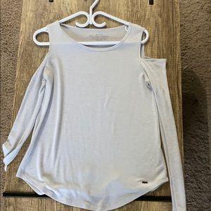 Long shelve, bare shoulder super soft shirt